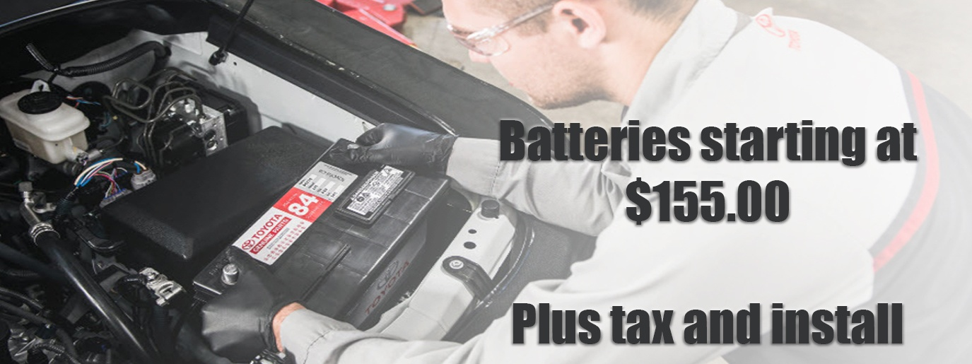 Batteries Starting at $155.00