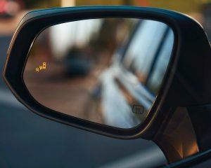 Blind Spot Monitoring on Rearview Mirror of 2020 Toyota Highlander