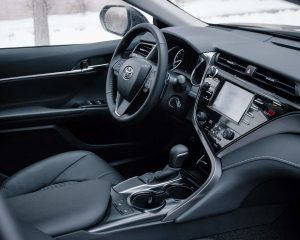 2020 Toyota Camry SE in Nightshade front interior