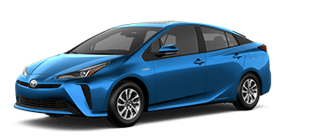 Front side view of 2021 Toyota Prius Technology